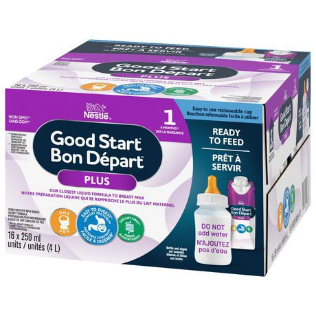 NESTLÉ® GOOD START® PLUS 1 Baby Formula, Ready-to-Feed Tetra - New Look - image 4 of 8