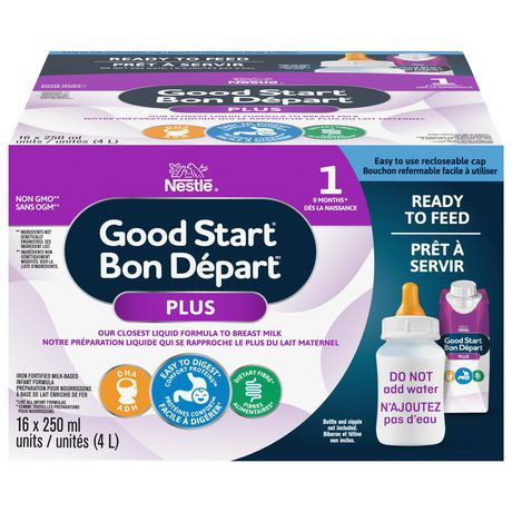 NESTLÉ® GOOD START® PLUS 1 Baby Formula, Ready-to-Feed Tetra - New Look - image 1 of 8