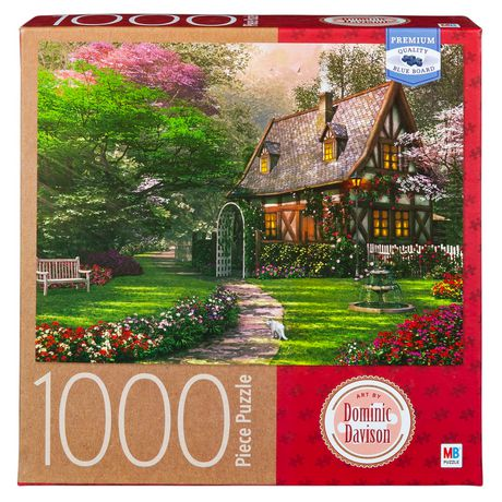 94bd7fd09559 Cardinal Games Artist Dominic Davison - 1000-Piece Adult Jigsaw Puzzle -  Misty Lane Cottage ...