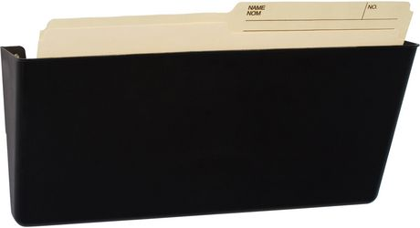 Storex Magnetic Wall File Pocket/ Legal Sized / Black 4.5 X 16.25 X 4.5 Inches - image 2 of 4