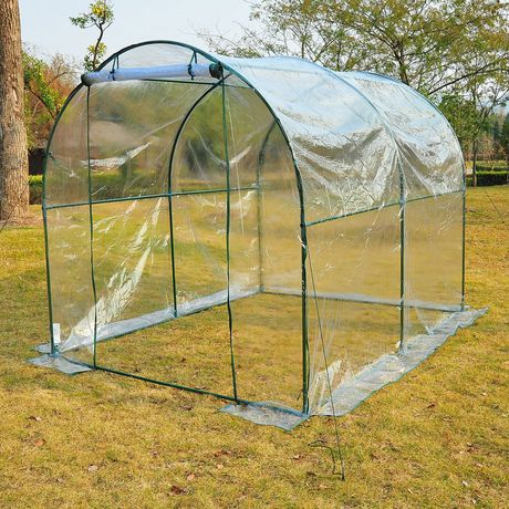 Outsunny 8' X 6' Transparent Greenhouse - image 1 of 1