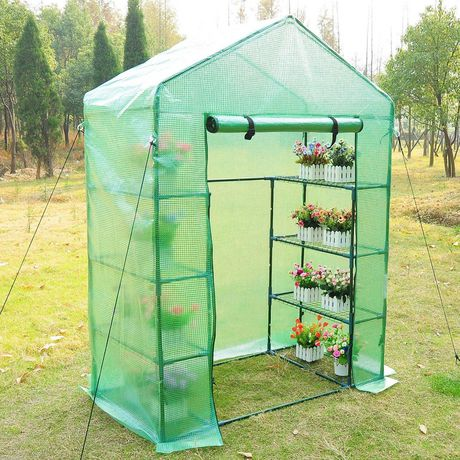 Outsunny Portable 4-Tier Warm Pop up Plants And Flower Greenhouse with Shelves - image 1 of 1