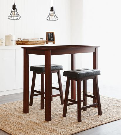 Hometrends 3 Piece Counter Height Dining Set