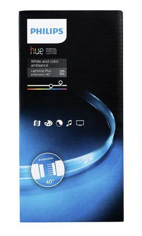 Bande d'extension d'un mètre blanche et colorée Ambiance Lightstrip Plus de Philips Hue - image 2 de 2