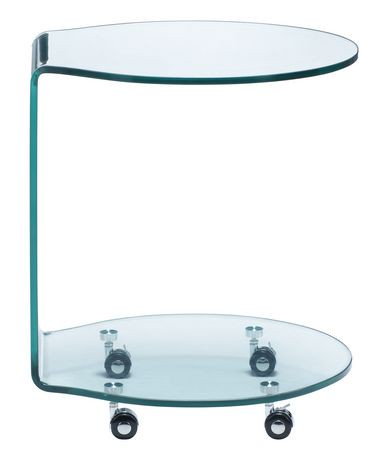 table d 39 appoint 1 pi ce mission zuo modern en verre transparente. Black Bedroom Furniture Sets. Home Design Ideas