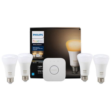 Philips Hue A19 Smart Bulb Starter Kit White Ambiance