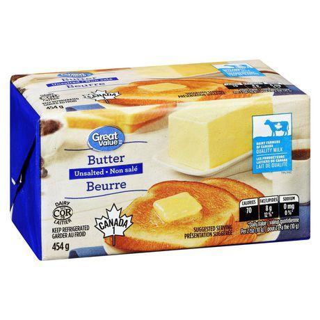 Beurre non salé Great Value - image 2 de 6