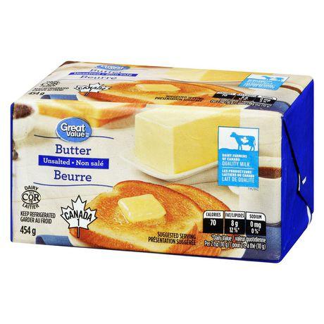 Beurre non salé Great Value - image 3 de 6