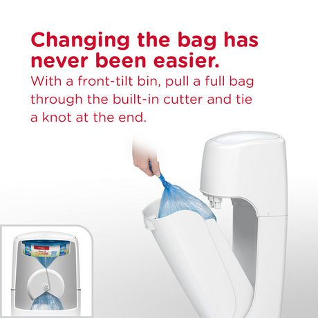 Playtex Baby Diaper Genie Elite Diaper Pail System with Front Tilt Pail for Easy Diaper Disposal - image 4 of 6