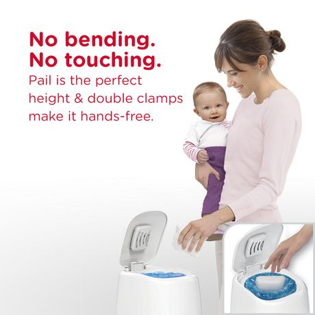 Seau à couches Diaper GenieMD Elite de PlaytexMD avec panneau avant inclinable pour faciliter la mise au rebut des couches - image 3 de 6