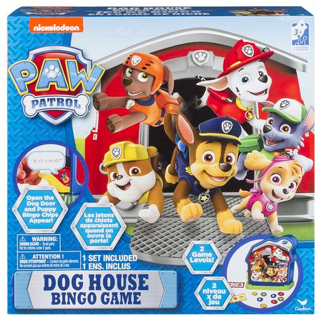 Paw Patrol Dog House Bingo