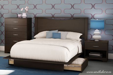 south shore bedroom set south shore soho collection size chocolate 17386