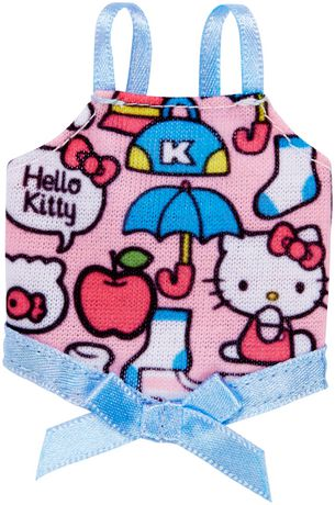 Barbie Hello Kitty Fashion Pack PINK /& Multicolor Bow Top  New
