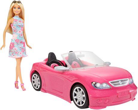 Barbie – Décapotable rose et poupée - image 1 de 6