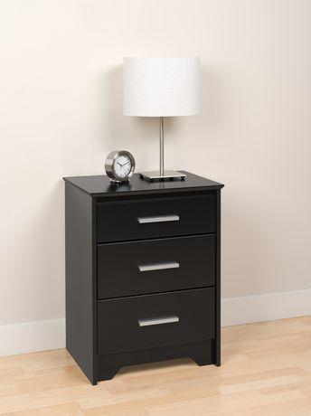 table de chevet haute coal harbor trois tiroirs. Black Bedroom Furniture Sets. Home Design Ideas