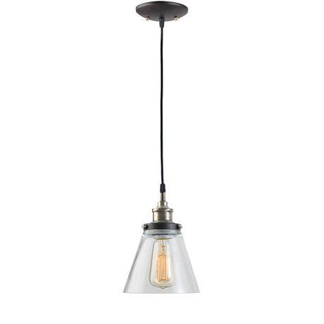Globe Electric 65215 1 Light Vintage Edison Hanging Pendant Light