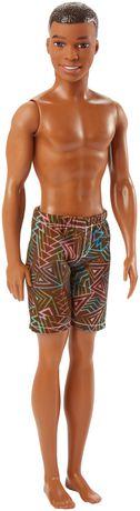 Barbie – Poupée Plage – Ken – Motif géométrique - image 1 de 4