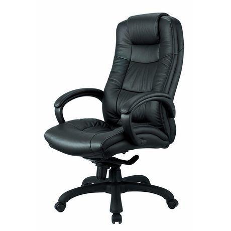 chaise de bureau ex cutif nicer furniture dossier haut en cuir v ritable walmart canada. Black Bedroom Furniture Sets. Home Design Ideas