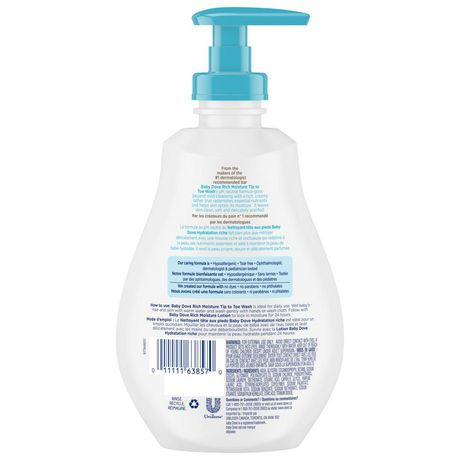 Baby Dove Tip to Toe Baby Wash Rich Moisture 384 ml - image 3 of 7