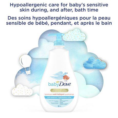 Nettoyant BabyDove Tête aux Pieds Hydratation riche 591ml - image 4 de 9