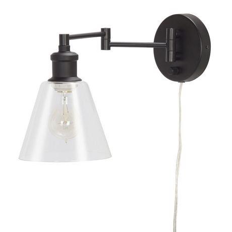 plug in industrial lighting. Globe Electric 1-Light Dark Bronze Plug-in Industrial Wall Sconce | Walmart Canada Plug In Lighting R