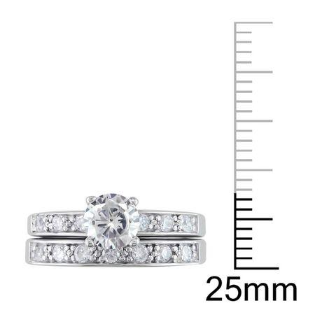 Miabella Ensemble de mariage avec zircon cubique blanc 2 1/3 ct en argent - image 3 de 3