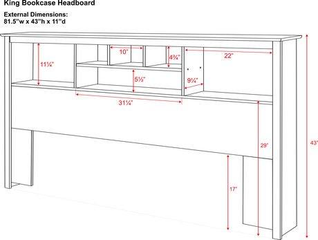 prepac sonoma collection king size storage headboard  walmart.ca, Headboard designs