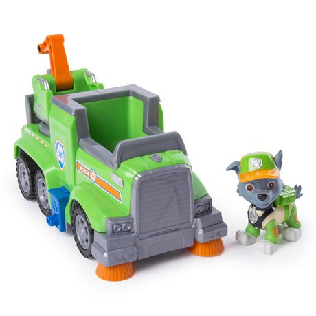 PAW Patrol Ultimate Rescue - Rocky's Ultimate Rescue Recycling Truck with Moving Crane And Flip-open Ramp, for Ages 3 And up - image 1 of 6