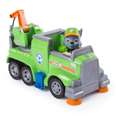 PAW Patrol Ultimate Rescue - Rocky's Ultimate Rescue Recycling Truck with Moving Crane And Flip-open Ramp, for Ages 3 And up - image 4 of 6