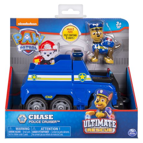 PAW Patrol Ultimate Rescue - Chase's Ultimate Rescue Police Cruiser with Lifting Seat And Fold-out Barricade, for Ages 3 And up - image 2 of 7