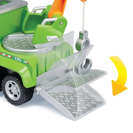 PAW Patrol Ultimate Rescue - Rocky's Ultimate Rescue Recycling Truck with Moving Crane And Flip-open Ramp, for Ages 3 And up - image 5 of 6