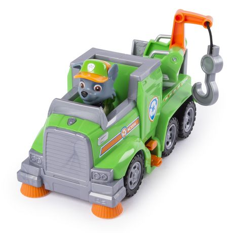 PAW Patrol Ultimate Rescue - Rocky's Ultimate Rescue Recycling Truck with Moving Crane And Flip-open Ramp, for Ages 3 And up - image 3 of 6