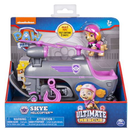 PAW Patrol Ultimate Rescue - Skye's Ultimate Rescue Helicopter with Moving Propellers And Rescue Hook, for Ages 3 And up - image 2 of 6
