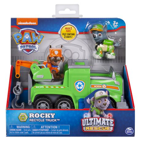 PAW Patrol Ultimate Rescue - Rocky's Ultimate Rescue Recycling Truck with Moving Crane And Flip-open Ramp, for Ages 3 And up - image 2 of 6