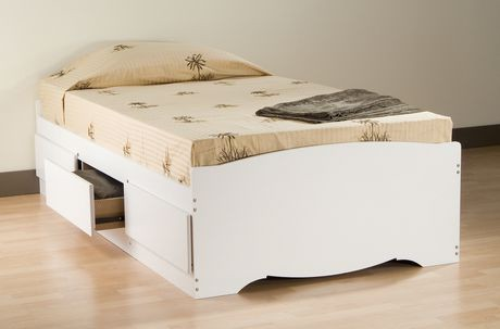Prepac Twin Size Platform Storage Bed With 3 Drawers