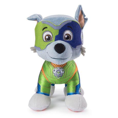 "paw patrol mighty pups rocky plush 8"" | walmart canada | walmart canada"