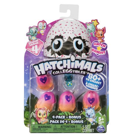 Hatchimals CollEGGtibles - 4-Pack + Bonus, Season 4 Hatchimals CollEGGtible, for Ages 5 and Up (Styles and Colors May Vary) - image 1 of 3