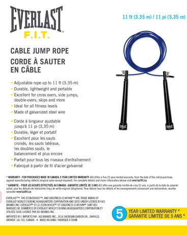 Corde À Sauter En Câble par L'everlast - image 1 de 3