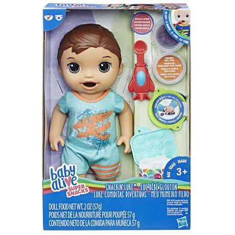 c6985e80b9 Baby Alive Super Snacks Snackin  Luke (brunette) - image 1 ...