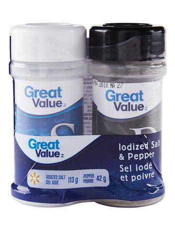 Sel iodé et poivre de Great Value - image 1 de 2