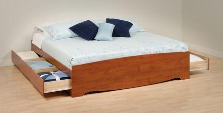 prepac base de lit plateforme avec 6 tiroirs de rangement tr s grand walmart canada. Black Bedroom Furniture Sets. Home Design Ideas