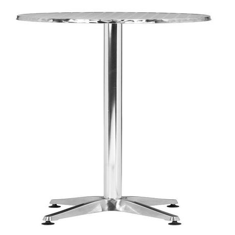 Table de bar 1 pi ce en aluminium pour ext rieur for Table exterieur walmart