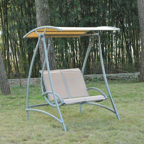 Outsunny Garden 2 Seater Swing Chair | Walmart Canada