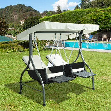 Outsunny Luxury Heavy Duty Patio Swing Chair