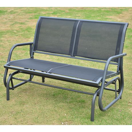 Outsunny Patio Double Glider Bench