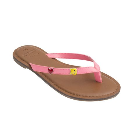 77cc796b6 George Girls  Faux-Leather Toe-Thong Sandals - image 1 ...
