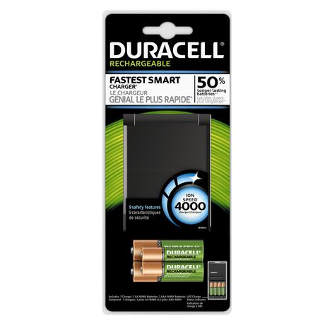 duracell 4000 ion speed rechargeable battery charger. Black Bedroom Furniture Sets. Home Design Ideas