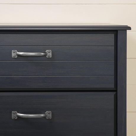 Commode à 4 tiroirs en bleu foncé Ulysses de Meubles South Shore - image 6 de 7