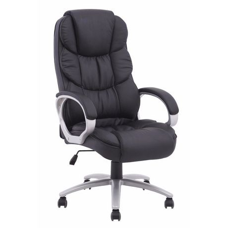 Nicer Furniture Executive Black Pu Ergonomic Desk Office