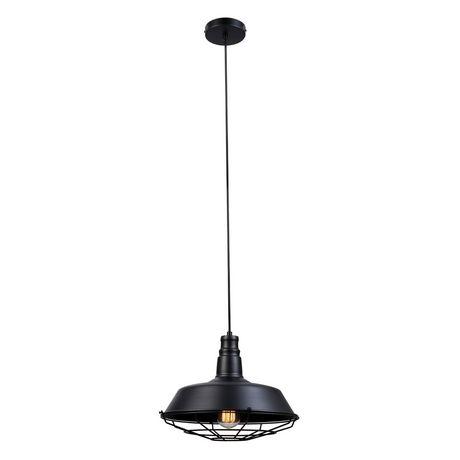 Pendentif suspendu à 1 lumière, collection Damon, fini noir mat, cordon électrique noir - image 1 de 6